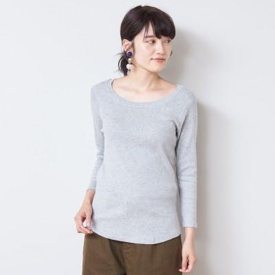 【5色展開】フライス生地でしっかりした8分袖Tシャツ【M―4L】(manoamano/マノアマノ)