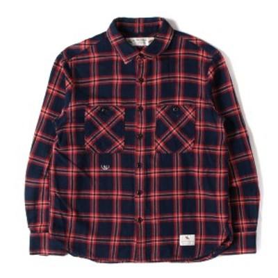 NEIGHBORHOOD ネイバーフッド シャツ 15SS チェック フランネルシャツ LUMBERS / C-SHIRT . LS レッド×ネイビー S 【メンズ】【中古】【