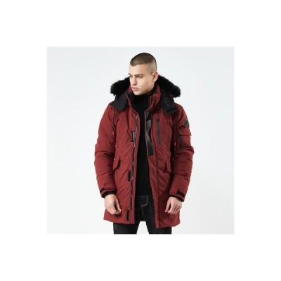 中綿コート メンズ 着脱式フード ファー付き ロング丈 シンプル ベンチコート 中綿ジャケット アウトドア キルティング  防寒 防風