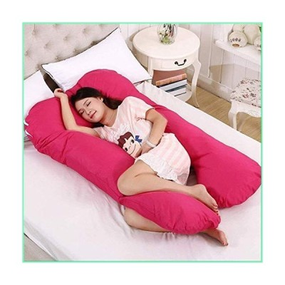 ERDFCV Pregnancy Pillow,U-Shaped Full Body Pillow and Maternal Support 100% Cotton Satin Cotton Cover Maternity Pillows Pregnancy Side Sle