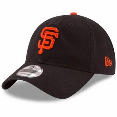 """ニューエラ メンズ キャップ """"San Francisco Giants"""" New Era Game Replica Core Classic 9TWENTY Adjustable Hat - Black"""