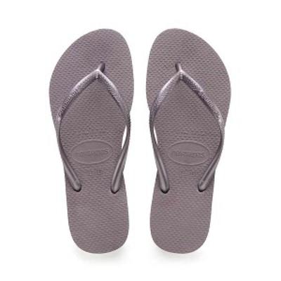 ハワイアナス レディース サンダル シューズ Havaianas Women's Slim Sandal Lilac Announce
