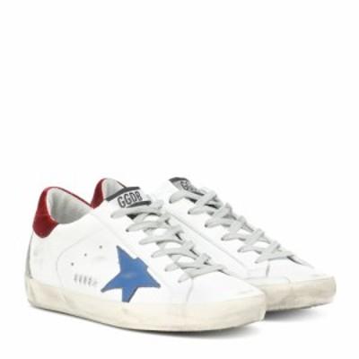 ゴールデン グース Golden Goose レディース スニーカー シューズ・靴 Superstar leather sneakers White-Blueberry Star Metal Let
