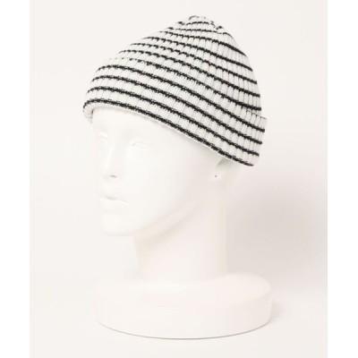 SPINNS / ボーダーデザインニット帽 MEN 帽子 > ニットキャップ/ビーニー
