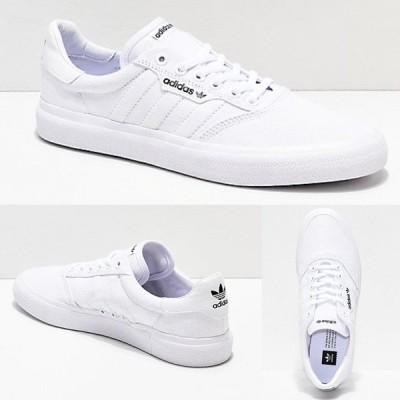 Adidas/アディダス adidas スニーカー メンズ ホワイト キャンバス レザー 3MC white