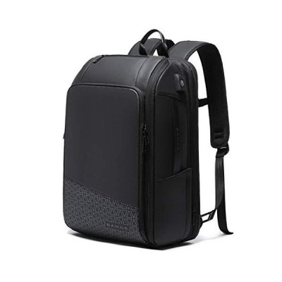"""Kanpcelns Men 15.6"""" Laptop Travel Business Backpacks Scalable Large Capacity Anti-Theft Bags Black 49 x 31 x 18 cm"""