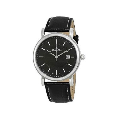 (新品) Mathey-Tissot City Cuir Black Dial Men's Watch HB611251AN