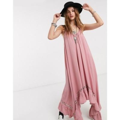 フリーピープル Free People レディース ワンピース スリップドレス マキシ丈 ワンピース・ドレス amor amor maxi slip dress ピンク