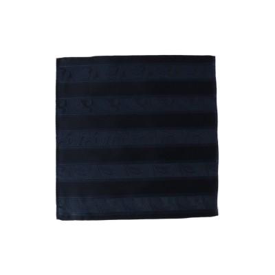 (CROWDED CLOSET/クラウデッドクローゼット)ペイズリー柄×ラインチーフ/シルク100%/メンズ ネイビー