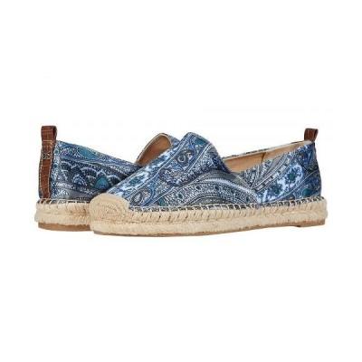 Sam Edelman サムエデルマン レディース 女性用 シューズ 靴 フラット Khloe - Blue Multi Paisley Scarf Print Dress Silk