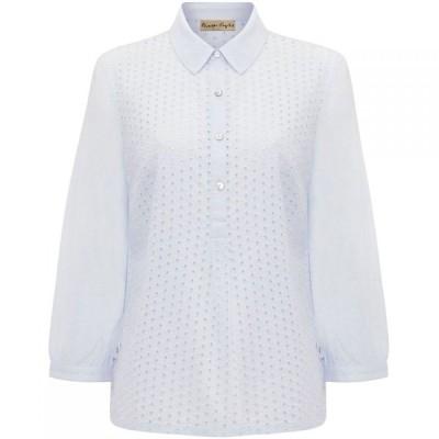 フェイズ エイト Phase Eight レディース ブラウス・シャツ トップス Beda Circle Broidery Shirt Pale Blue