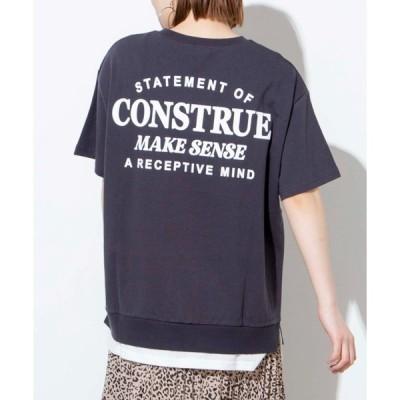 tシャツ Tシャツ WEGO/レイヤードロゴプリントTシャツ