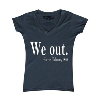 レディース 衣類 トップス Shop4Ever Women's We Out. Harriet Tubman 1849 Slim Fit V-Neck T-Shirt Tシャツ
