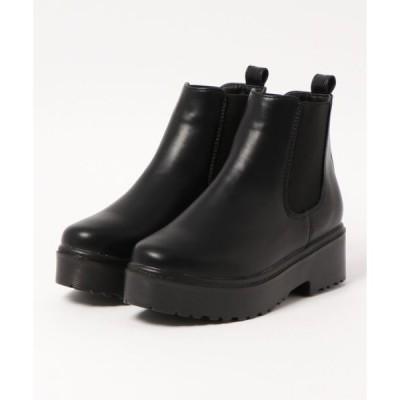 ブーツ 厚底 ソール サイドゴア ブーツ