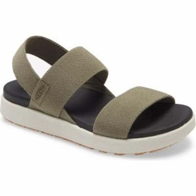 キーン KEEN レディース サンダル・ミュール シューズ・靴 Elle Webbing Strap Sandal Dusty Olive Fabric
