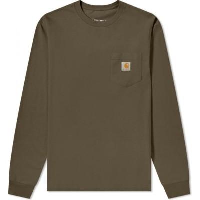 カーハート Carhartt WIP メンズ 長袖Tシャツ ポケット トップス long sleeve pocket tee Cypress
