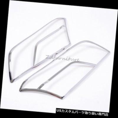 ヘッドライトカバー シボレートラックス2014車のフロントヘッドライトランプフレームカバートリムクローム2ピース用  For