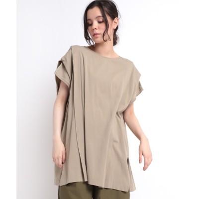 tシャツ Tシャツ M1663 ドロップショルダータックT