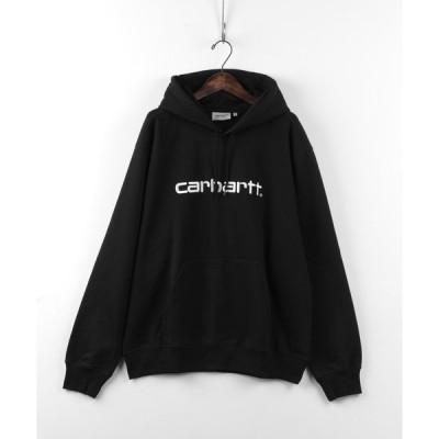 パーカー 【Carhartt/カーハート】WIP HOODED CARHARTT SWEATSHIRTS /ロゴスウェットパーカー/フーディー