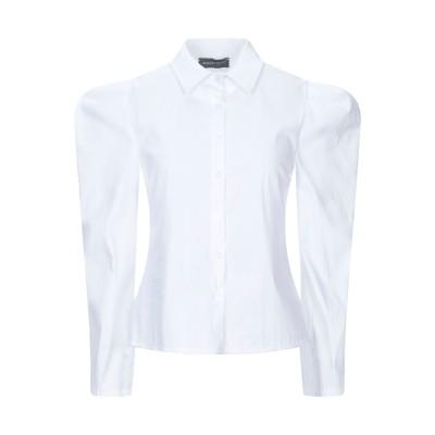 VANESSA SCOTT シャツ ホワイト M コットン 61% / ナイロン 36% / ポリウレタン 3% シャツ