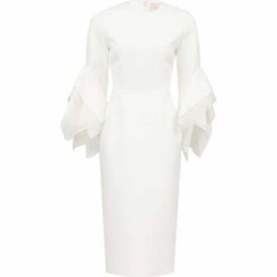 ロクサンダ Roksanda レディース パーティードレス ワンピース・ドレス Ronda fluted-cuff cady dress Ivory white