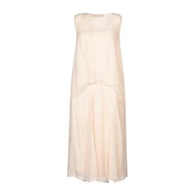 120% 7分丈ワンピース・ドレス ローズピンク 40 リネン 100% 7分丈ワンピース・ドレス