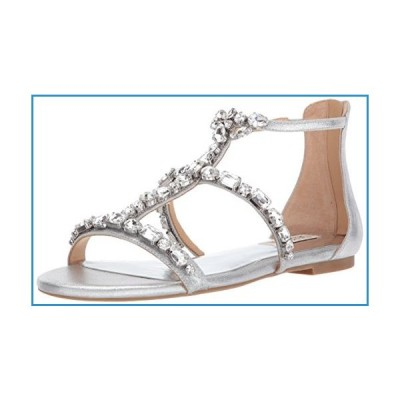 新品Badgley Mischka Women's Waren Flat Sandal, Silver, 7 M US【並行輸入品】