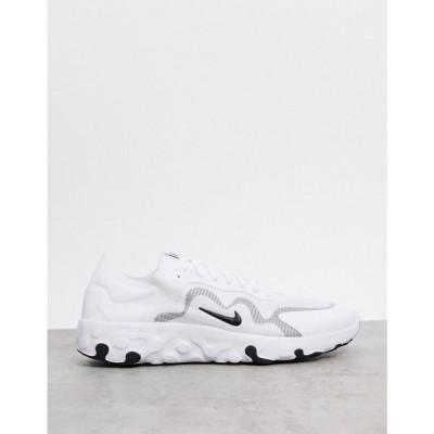 ナイキ Nike メンズ スニーカー シューズ・靴 Renew Lucent trainers in white & black ホワイト/ブラック