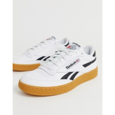 リーボック メンズ スニーカー シューズ Reebok Classics Club C Revenge sneakers in white with gum sole White