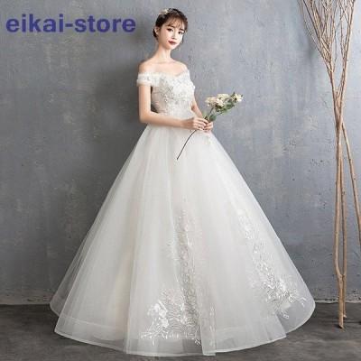 ウェディグドレス マタニティドレス 白 花嫁 二次会 ワンピース 大きいサイズ ドレス 結婚式 パーティードレス ロングドレス 安い 白 ハイウエスト