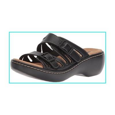 Clarks Women's Delana Liri Platform, Black Leather, 8 Medium US【並行輸入品】