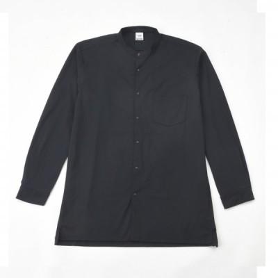 TIGORA ULTIMATE 軽量ストレッチバンドカラーシャツ メンズ 長袖シャツ TR-9C1070HL ULブラック ティゴラ
