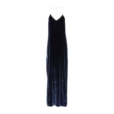 アミリ AMIRI ロングワンピース&ドレス ダークブルー 0 レーヨン 80% / シルク 18% / ポリウレタン 2% ロングワンピース&ドレス