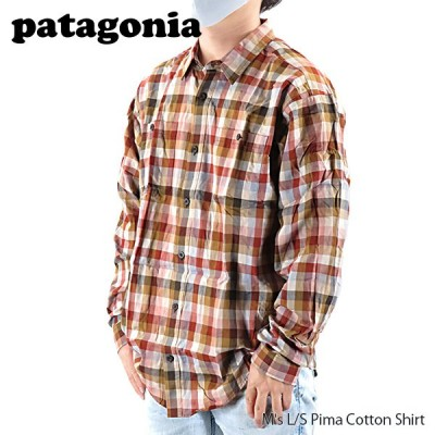 Patagonia パタゴニア メンズ ロングスリーブ ピマ コットン シャツ チェック柄 長袖 53837 GTTA