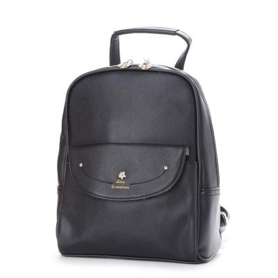 リトルアクセサリーズ LITTLE accessories しっかり感のあるレザー調合皮使用ミニリュック (ブラック)