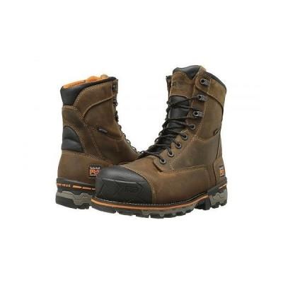 "Timberland PRO ティンバーランド メンズ 男性用 シューズ 靴 ブーツ ワークブーツ Boondock 8"" Comp Toe WP - Brown"