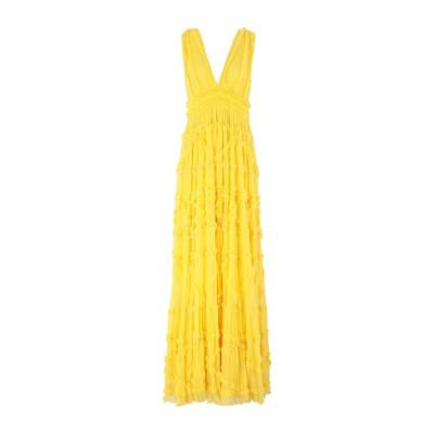 ジャストカヴァリ JUST CAVALLI ロングワンピース&ドレス イエロー 36 レーヨン 100% ロングワンピース&ドレス