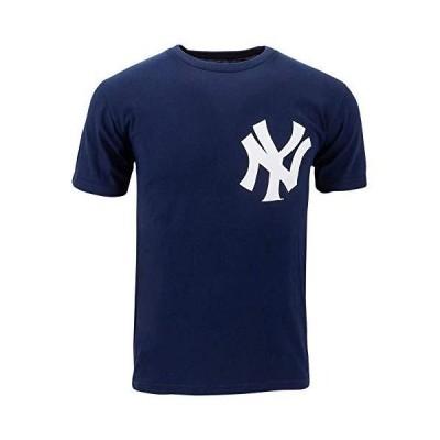 ニューヨーク・ヤンキース( Adult 2?X ) 100?%コットンクルーネックMLB公式ライセンス商品MajesticメジャーリーグレプリカTシャ