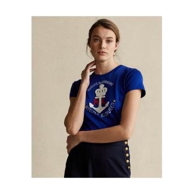 【ポロ ラルフ ローレン】 アンカー グラフィック コットン Tシャツ レディース 400ブルー XS POLO RALPH LAUREN