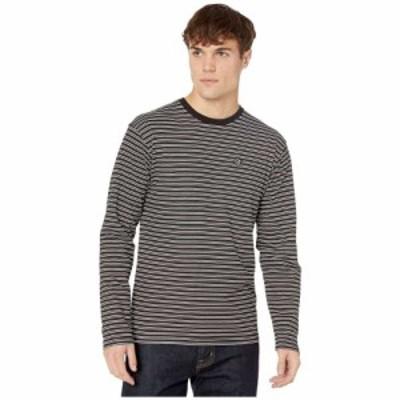 ヴァンズ Vans メンズ 長袖Tシャツ トップス Striped Long Sleeve T-Shirt Black/White