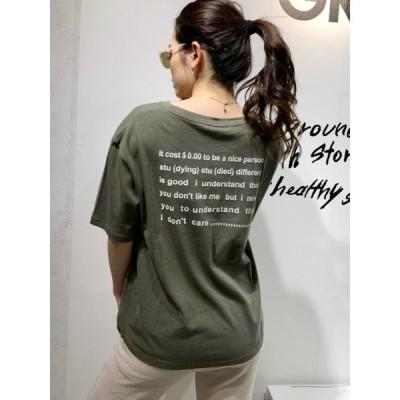 tシャツ Tシャツ BACK SiliconprintTシャツ