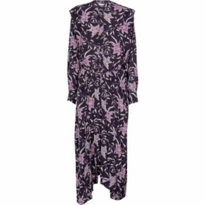 イザベル マラン Isabel Marant. Etoile レディース ワンピース ミドル丈 ワンピース・ドレス Okley floral midi dress Faded Night