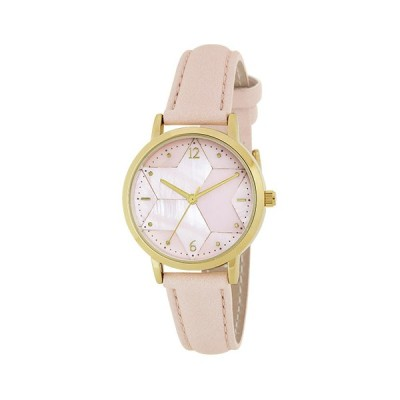 サンフレイム J-AXIS レディスウォッチ 腕時計/ヘキサグラム 六芒星 白蝶貝ダイヤルウォッチ/ピンク BL1206-PI(取)