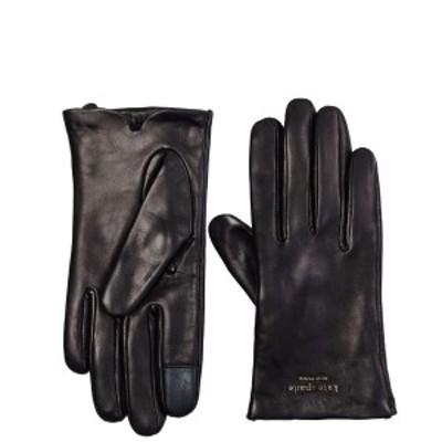 送料無料 ケイトスペード 手袋 レディース ブランド 革 レザー ブラック 黒 楽天 KATE SPADE NEW YORK