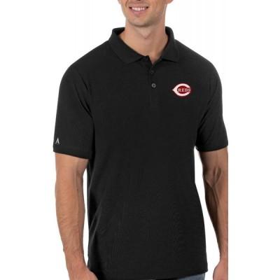 アンティグア Antigua メンズ ポロシャツ トップス Cincinnati Reds Black Legacy Polo