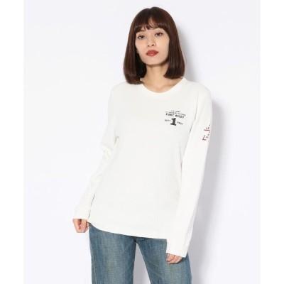 【アヴィレックス】ハニカムワッフルプリント クルーネックTシャツ/WAFFLE PRINT T−SHIRT