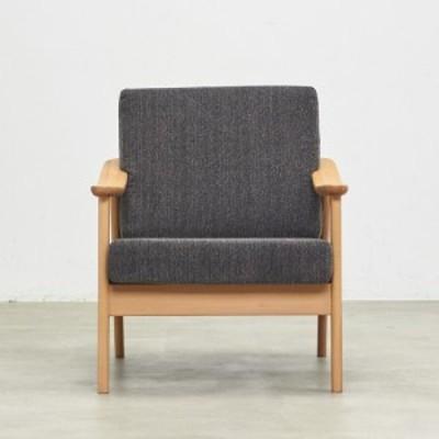 家具 収納 ソファー 1人掛けソファー シングルソファー  ビーチフレームカバーリングソファ シングル H89910