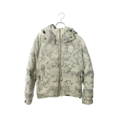 ルシアンペラフィネ lucien pellat-finet サイズ:S カモフラ柄フード付きダウンジャケット 中古 BS99
