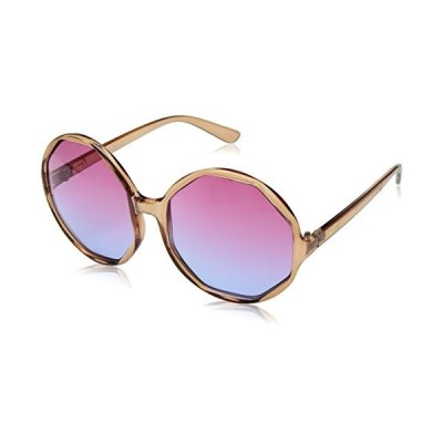 Nanette by Nanette Lepore Women's Nn235 Nd Round Sunglasses, Crystal Nude, 60 mm 海外お取寄せ商品