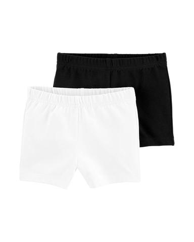 Carter's 休閒2件組短褲-黑白 (3T-5T)